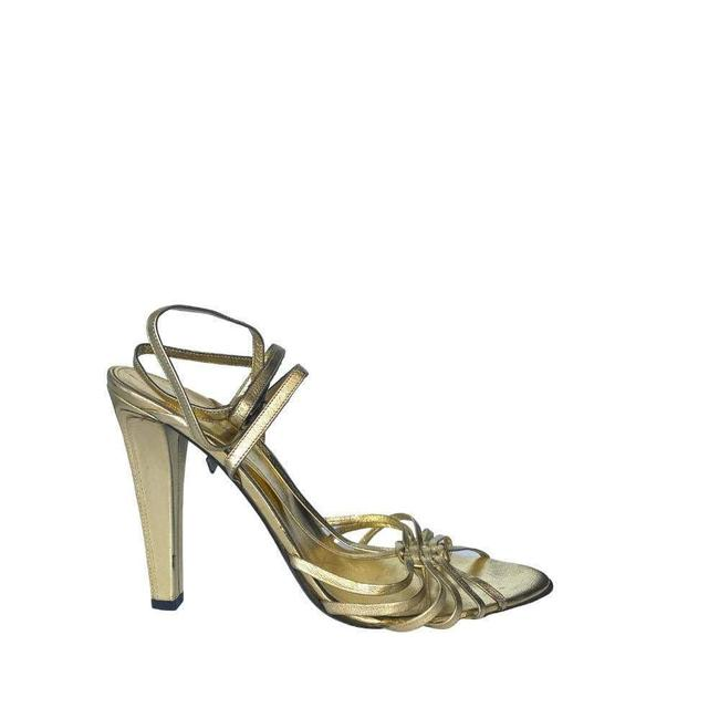 Item - Pale Gold Leather Strappy It 41 Sandals