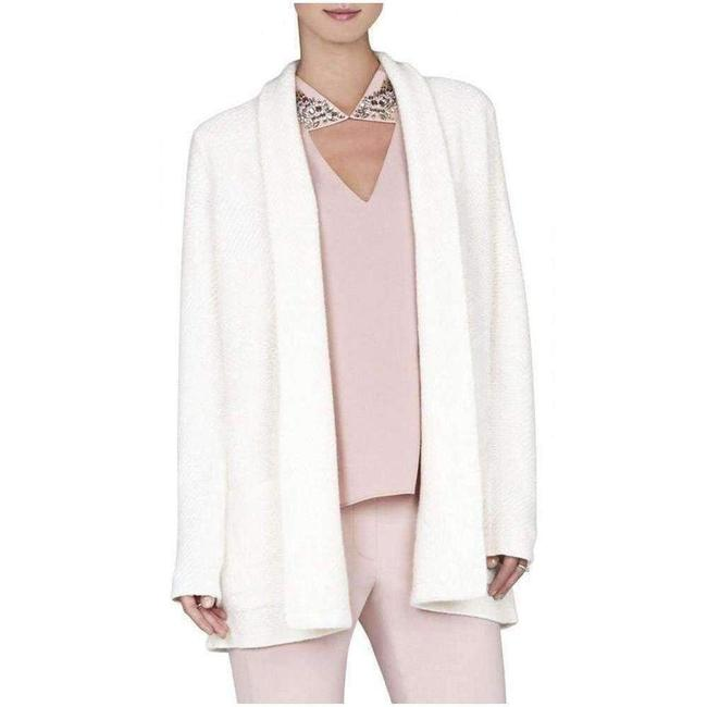 BCBGMAXAZRIA L Cashmere Ginata Shawl Collar Patch Pocket Cardigan BCBGMAXAZRIA L Cashmere Ginata Shawl Collar Patch Pocket Cardigan Image 1