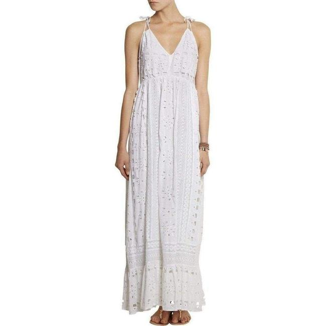 Item - L By White Eyelet Maxi Peasant Cocktail Dress