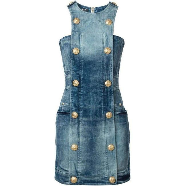 Item - Double-breasted Denim Fr 40 Short Casual Dress