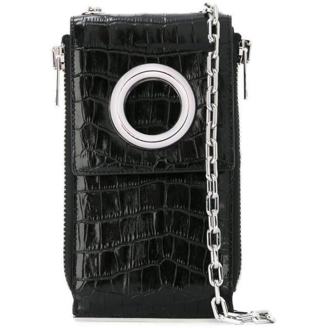 Item - Black Shoulder Wallet Crocodile Embossed Leather Us Cross Body Bag
