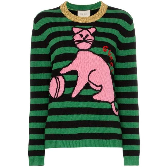 Gucci L With Cat and Baseball Sweater/Pullover Gucci L With Cat and Baseball Sweater/Pullover Image 1
