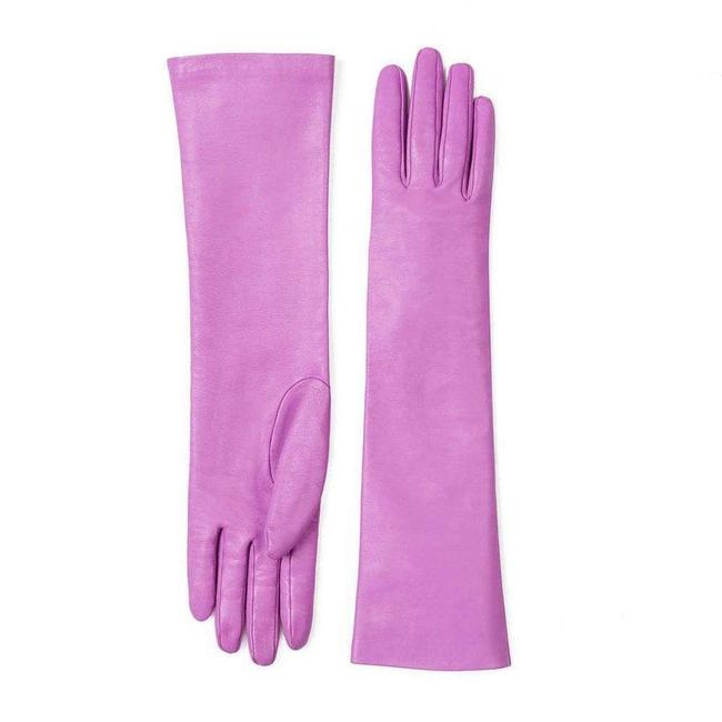 Item - Elbow Pink Length Leather Gloves 7.5 D Accessory