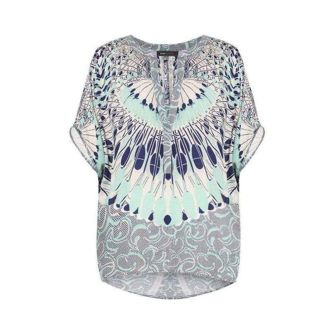 Item - XS Ayanna Oversized Printed Top Tee Shirt