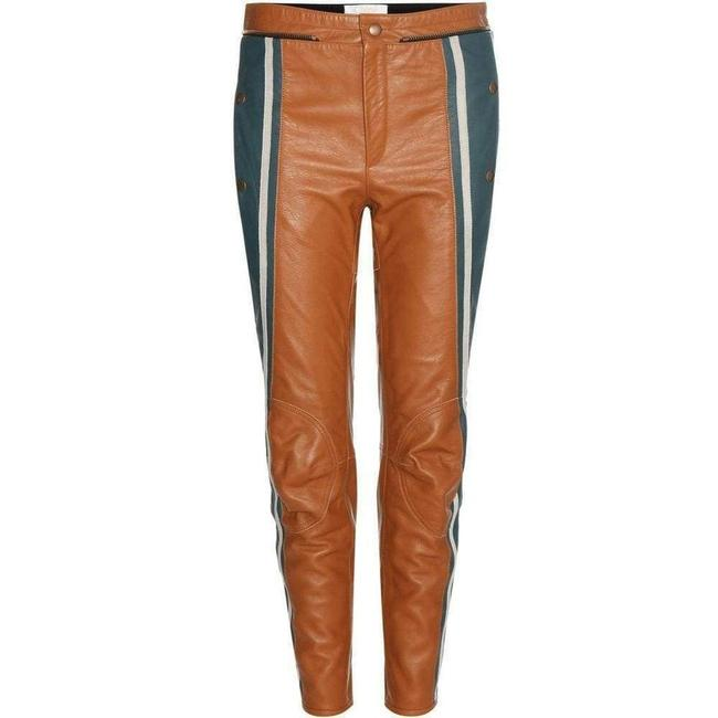 Chloé Biker Cropped Striped Leather Fr 36 Pants Chloé Biker Cropped Striped Leather Fr 36 Pants Image 1