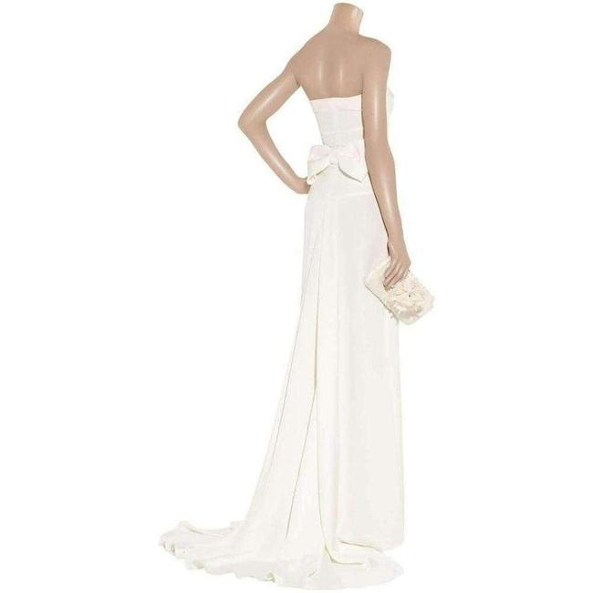 Item - Bow-back Strapless Silk Gown 8 Cocktail Dress