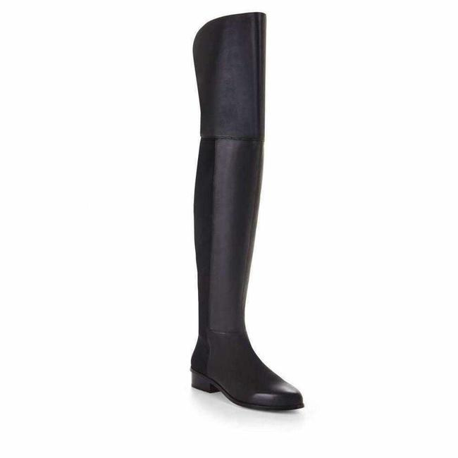 Item - Slink Over The Knee Black Leather 5.5 Boots/Booties