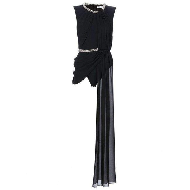 Item - Embellished Draped Body Top It 40 Cocktail Dress