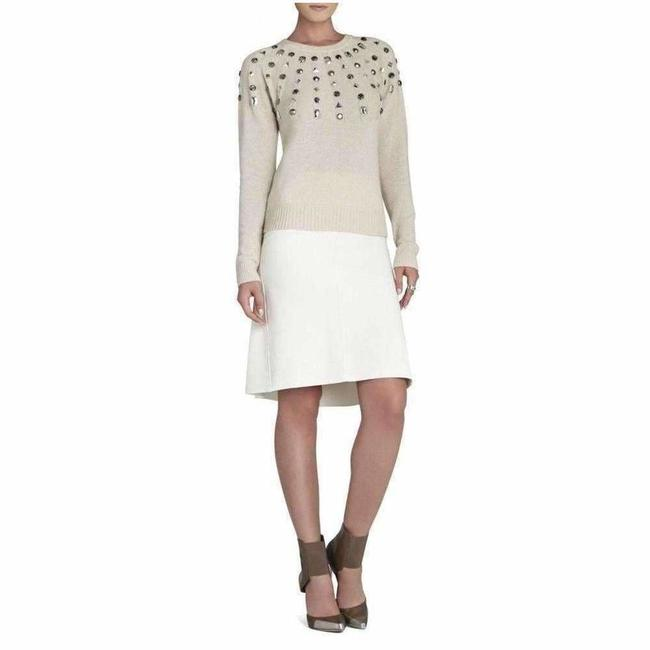 Item - Miri Beaded Crewneck Cashmere Blend Pullover Sweater S Button-down Top