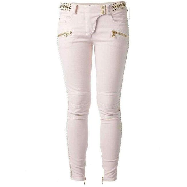Item - Low Rise Pink Lace Chains Biker Fr 40 Skinny Jeans