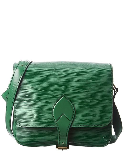 Item - Pre-owned Green Epi Leather Cartouchiere 1742258 Tote