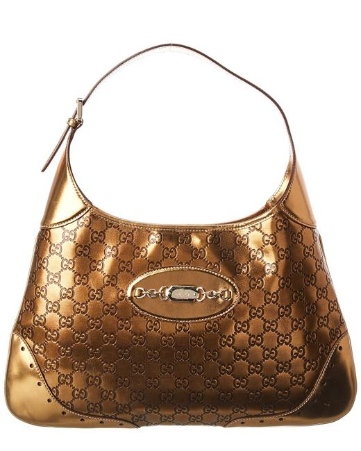 Item - Pre-owned Gold ssima Large Punch Qfbdfo3gdb000 Hobo Bag