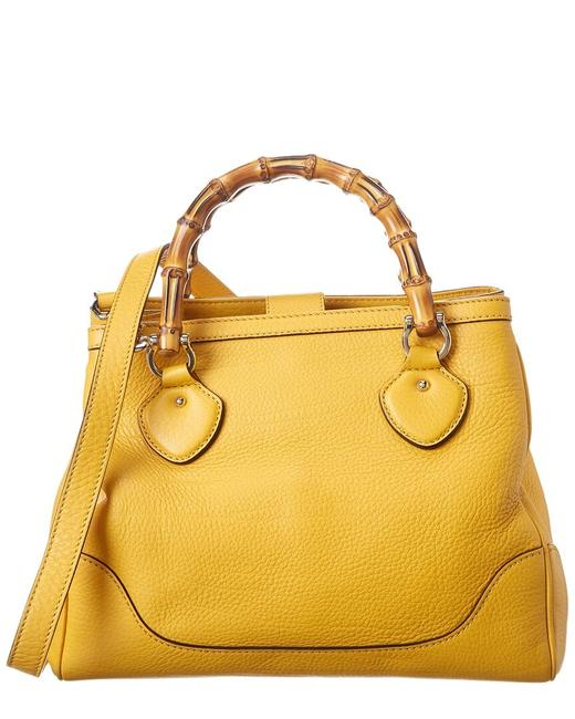 Item - Diana Pre-owned Yellow Leather Bamboo Bag 1920910 Tote