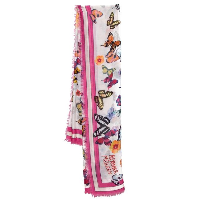 Item - Pink Butterfly Print Modal Square Scarf/Wrap