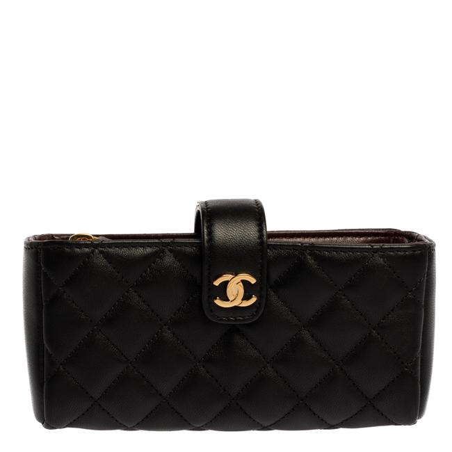 Item - Quilted Leather Cc Phone Holder Clutch