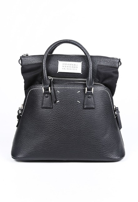 Item - Sac Medium Black Leather Satchel Sac Shoulder Bag