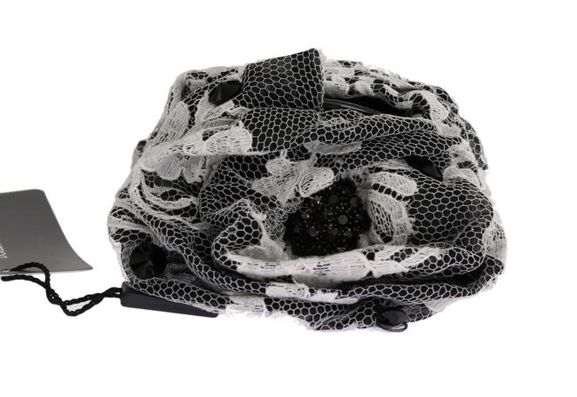 Item - Dolce & Gabbana Black White Floral Lace Crystal Women's Claw Hair Accessory