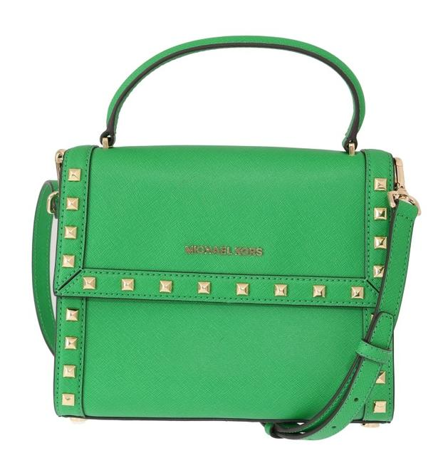 Item - Messenger Green Dillon Studded Leather One Size Cross Body Bag