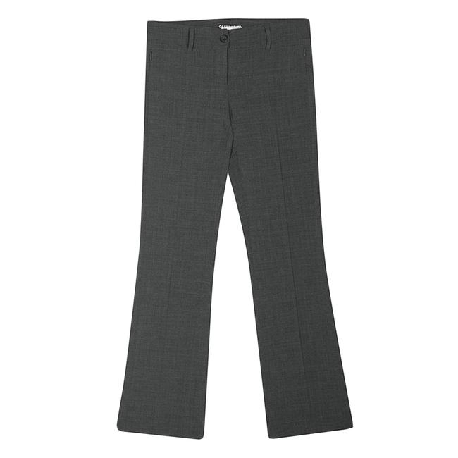Item - Gf Grey Pintuck Stitch Detail Straight Fit Trousers S Pants