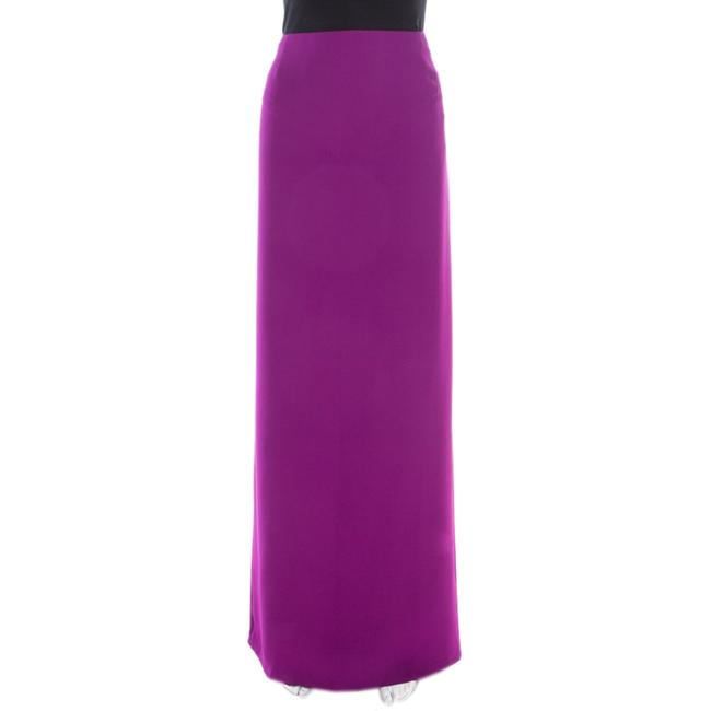 Item - L Purple Crepe Maxi Skirt