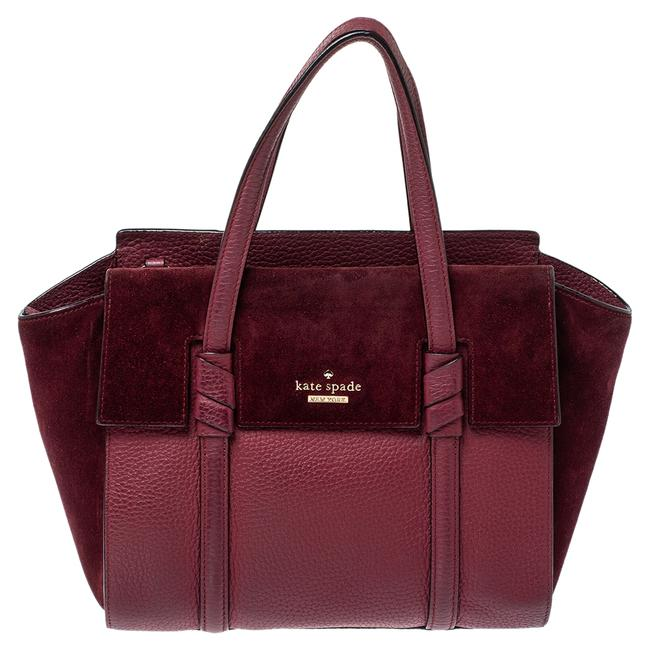 Item - Burgundy Leather and Suede Abigail Tote