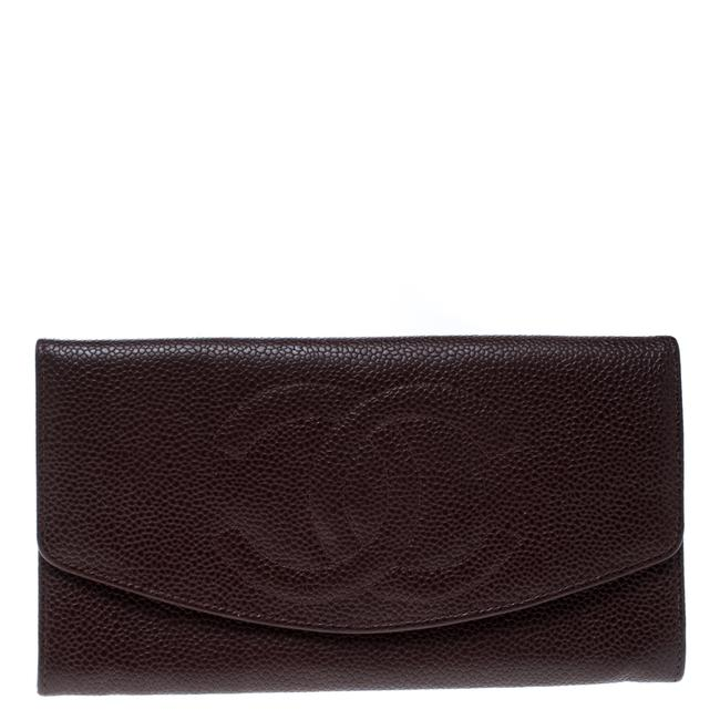 Item - Maroon Leather Cc Timeless Vintage Wallet