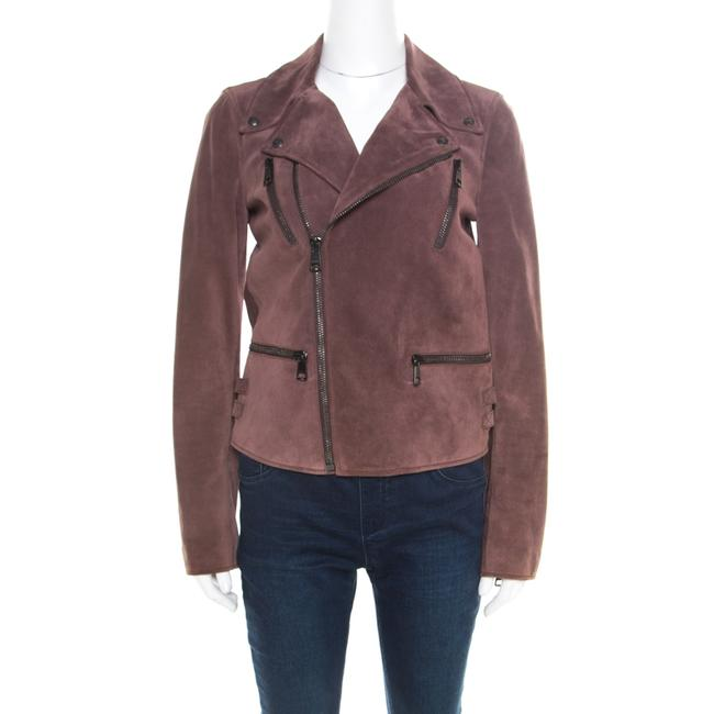 Item - Dull Purple Suede Biker Jacket