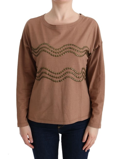 Item - Brown Cotton Studded Sweater/Pullover