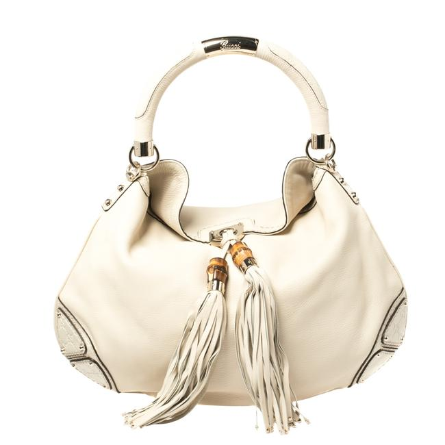 Item - Indy Cream Leather Large Babouska Hobo Bag
