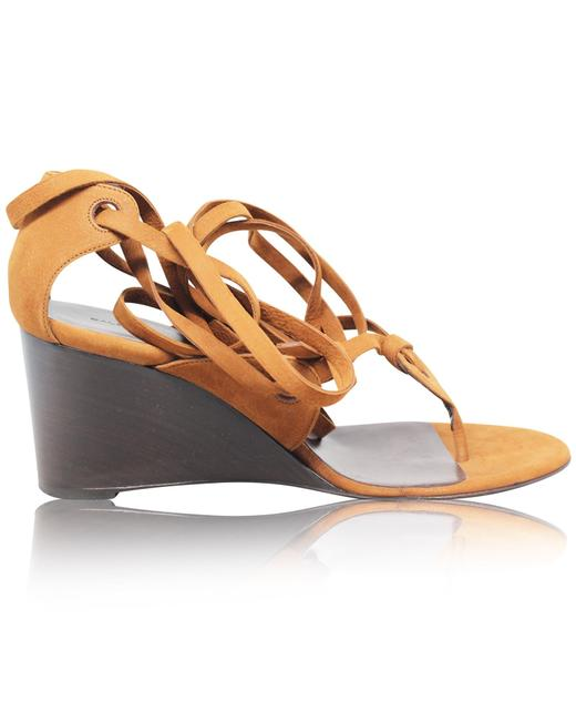 Item - Camel Strappy Sandals -pre Owned Condition Excellent Wedges