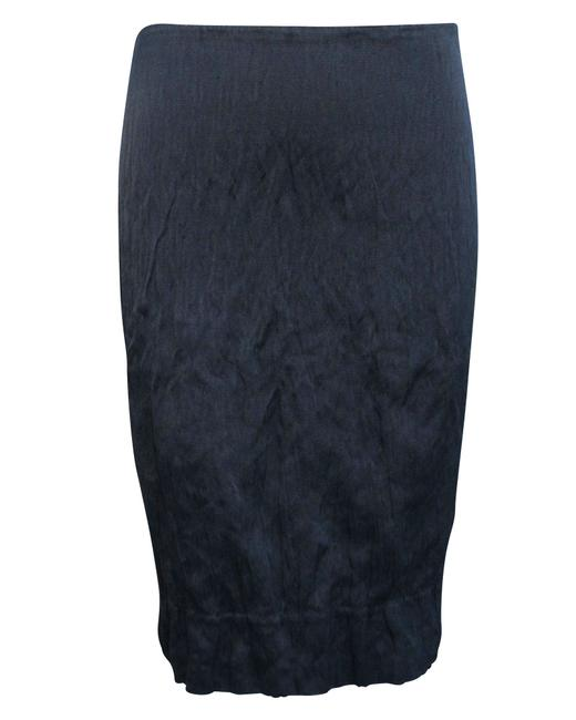Item - Black Knee Length Crumpled -pre Owned Condition Excellent Skirt