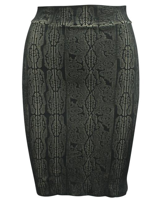 Item - Black Pattern Bandage -pre Owned Condition Very Skirt