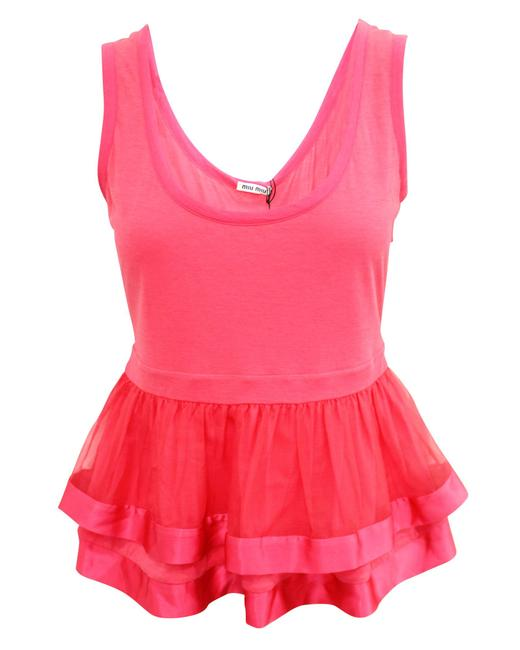 Item - L Coral Sleeveless Top -pre Owned Condition Very Good Blouse