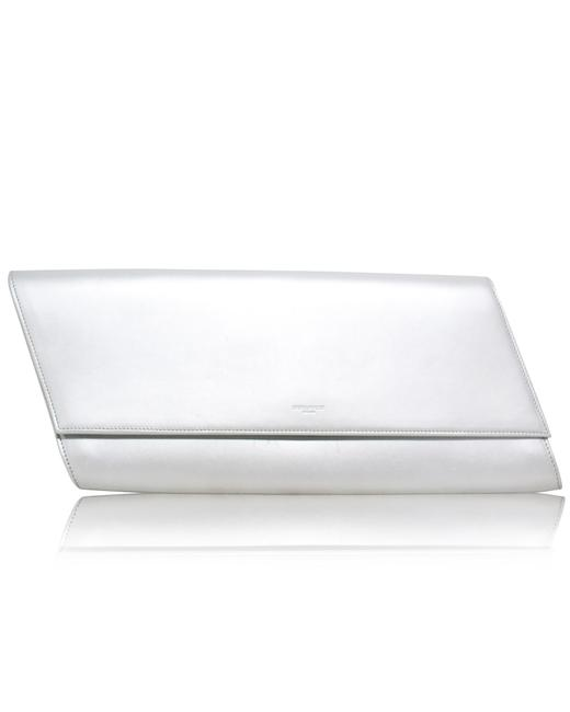 Item - Yves Silver Diagonale -pre Owned Condition Very Clutch