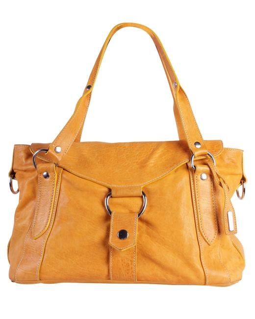 Item - Yellow Leather -pre Owned Condition Very Good One Shoulder Bag