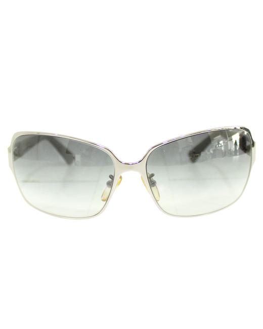 Item - Metallic Square with Blue Frame -pre Owned Condition Sunglasses