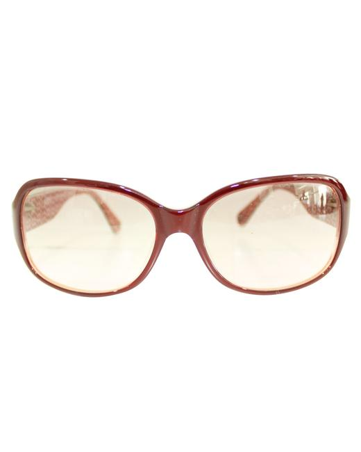 Item - Burgundy with Flowers On Frames -pre Owned Condition Sunglasses