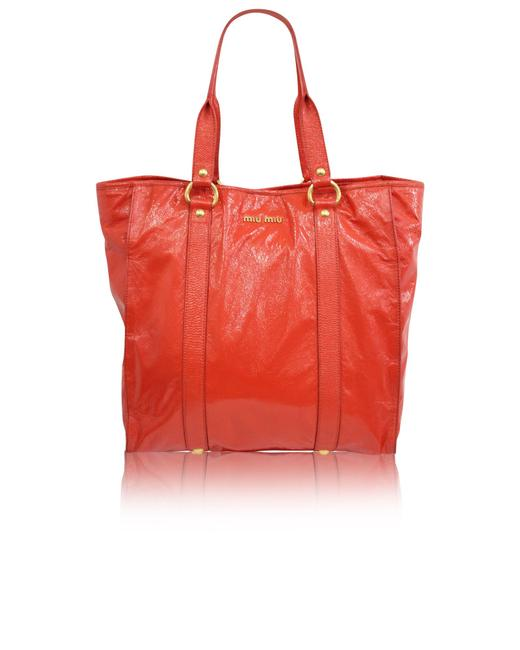 Item - Bag Red Patent Leather -pre Owned Condition Gently Loved Tote