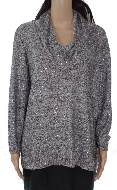 Item - Women's Sweater Gray Size Small S Pullover Sequin Cowl-neck Tank Top/Cami