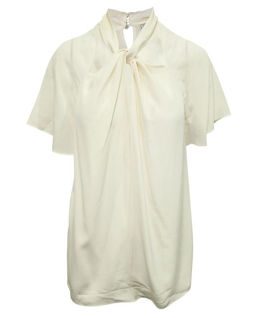 Item - Ivory Short Sleeve Top -pre Owned Condition Very Blouse