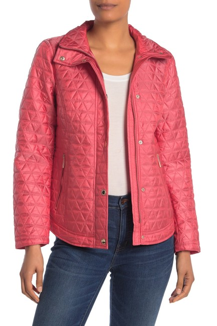 Item - Women's Jacket Red Size Small S Quilted Full-zipped Cocktail Dress