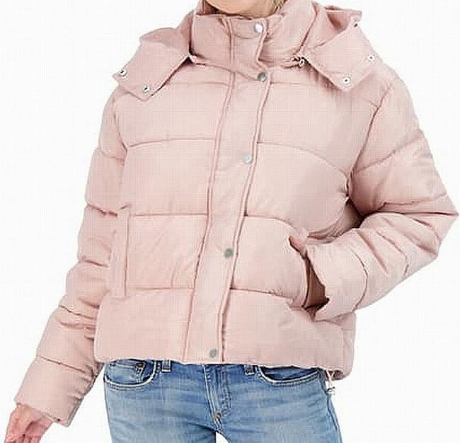Sebby L Women's Blush Pink Size Large Full Zip Button Puffer Jacket Sebby L Women's Blush Pink Size Large Full Zip Button Puffer Jacket Image 1