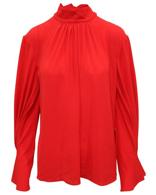 Item - Red with Front Tie -pre Owned Condition Very Blouse