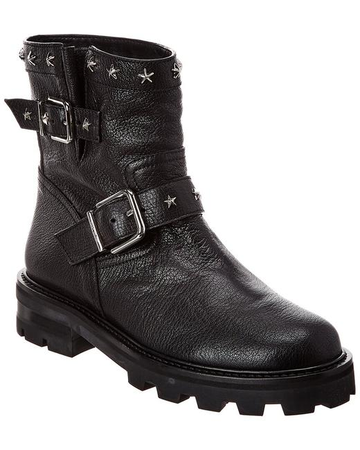 Item - Leather Youth Ii Hxs Black Silver Boots/Booties