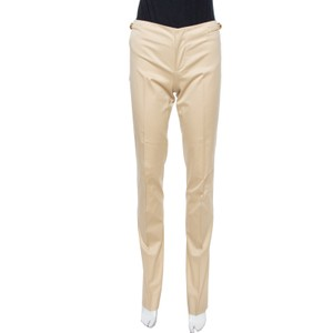 Gucci Beige Cotton Straight Fit Trousers S Pants