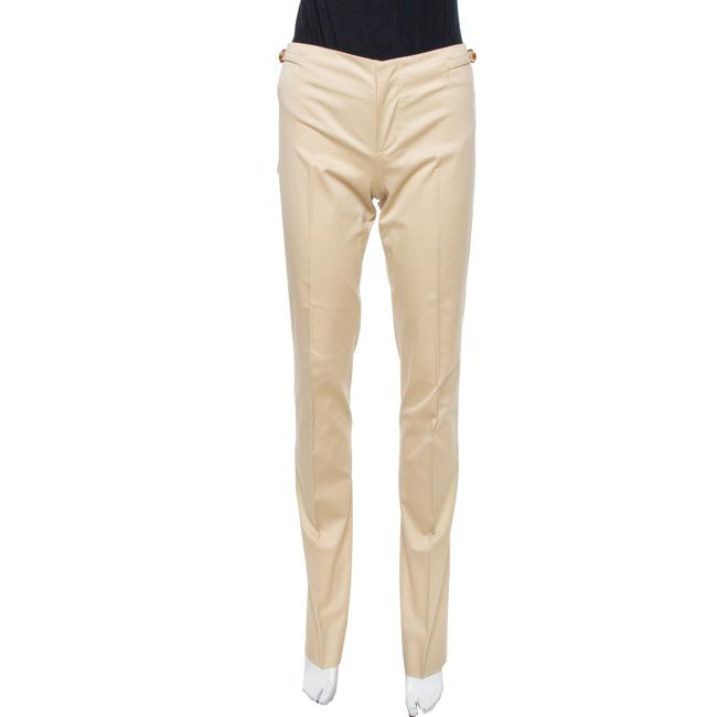 Gucci Beige Cotton Straight Fit Trousers S Pants Gucci Beige Cotton Straight Fit Trousers S Pants Image 1