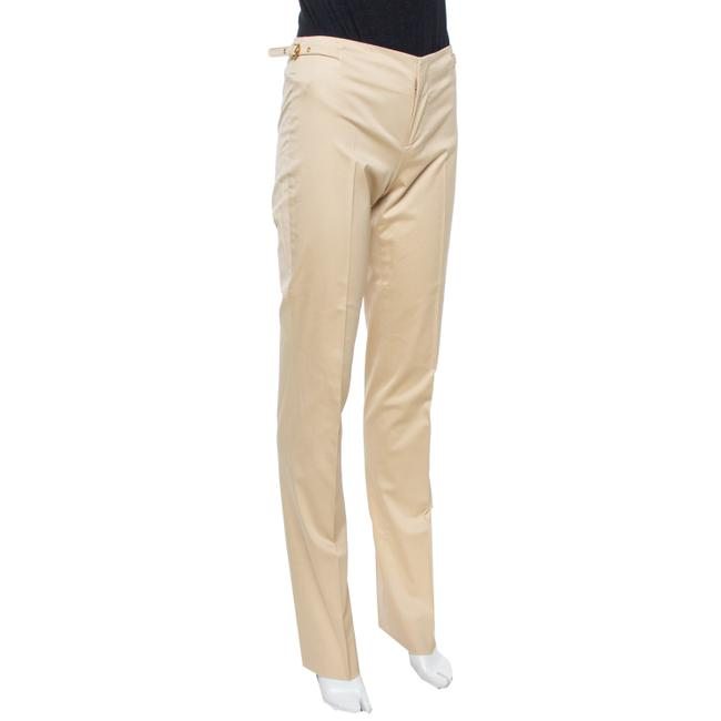 Gucci Beige Cotton Straight Fit Trousers S Pants Gucci Beige Cotton Straight Fit Trousers S Pants Image 2