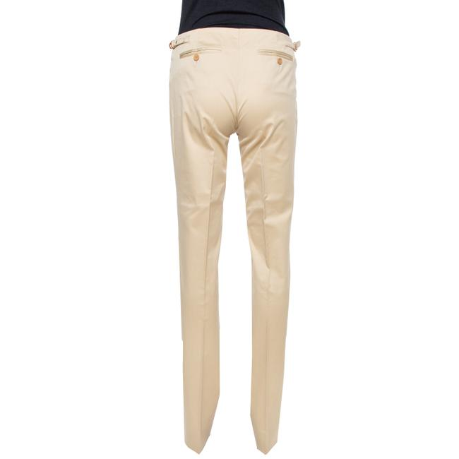 Gucci Beige Cotton Straight Fit Trousers S Pants Gucci Beige Cotton Straight Fit Trousers S Pants Image 3
