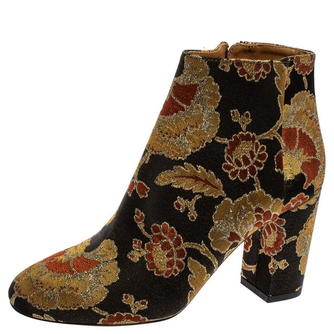 Item - Multicolor Brocade Fabric Ankle Size 37 Boots/Booties