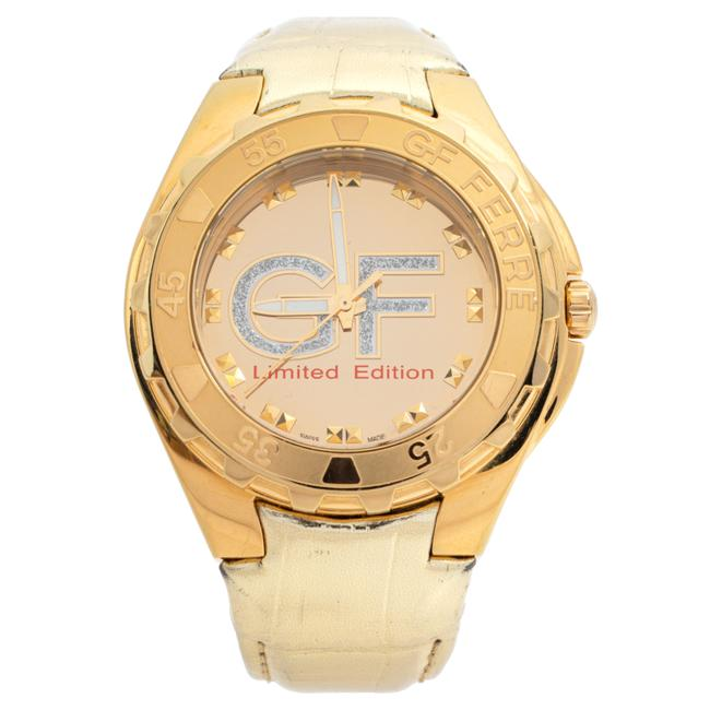 Item - Gold Tone Stainless Steel 9040j Limited Edition Women's Wristwatch 46 Mm Watch